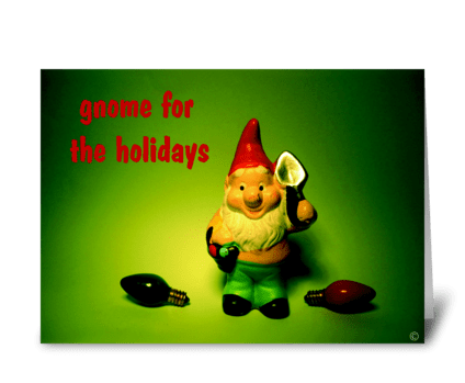 gnome for the holidays greeting card