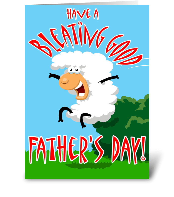 Bleating Good Father's Day greeting card