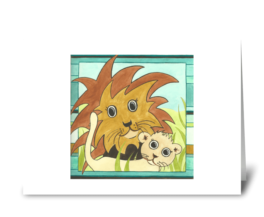 Lulu's Lions greeting card