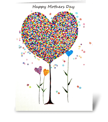 Dotty Mothers Day greeting card