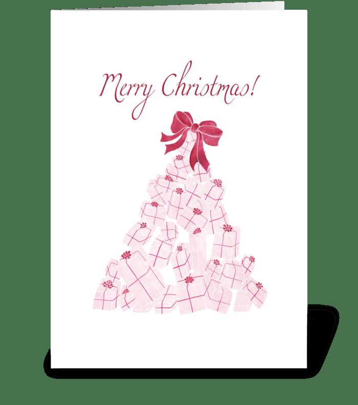 Christmas Present Tree greeting card