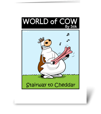 Stairway to Cheddar greeting card