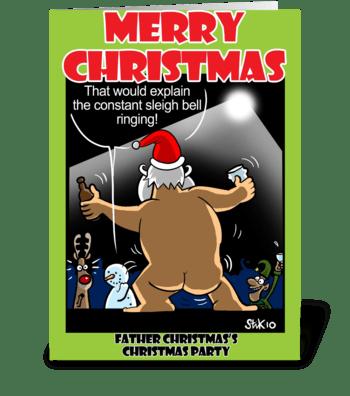 Santa's Christmas Party greeting card