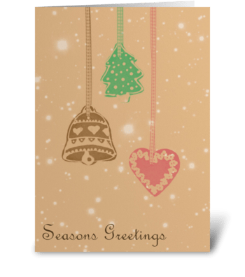 Seasons Greetings greeting card