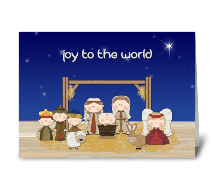 Whimsical Nativity  greeting card