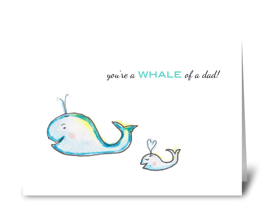 Whale Dad greeting card