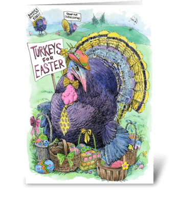 The Easter Turkey greeting card