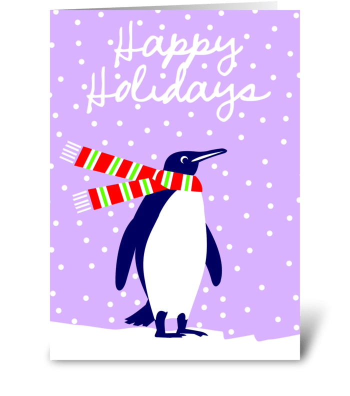 Friend of Santa (penguin) greeting card