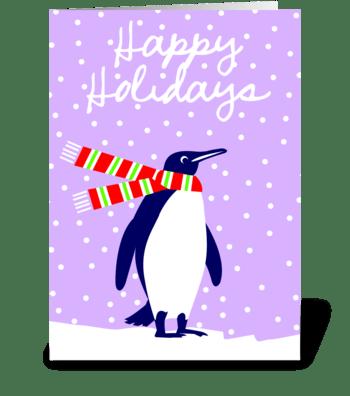 Friend of Santa (penguin) greeting card