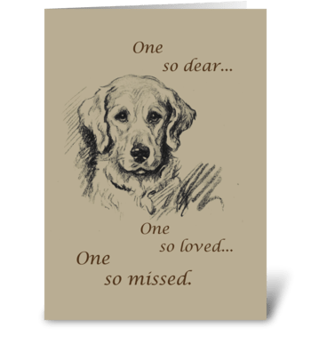 Retriever Dog Pet Sympathy greeting card