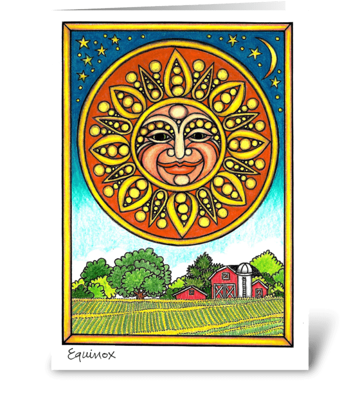 Equinox Sun greeting card