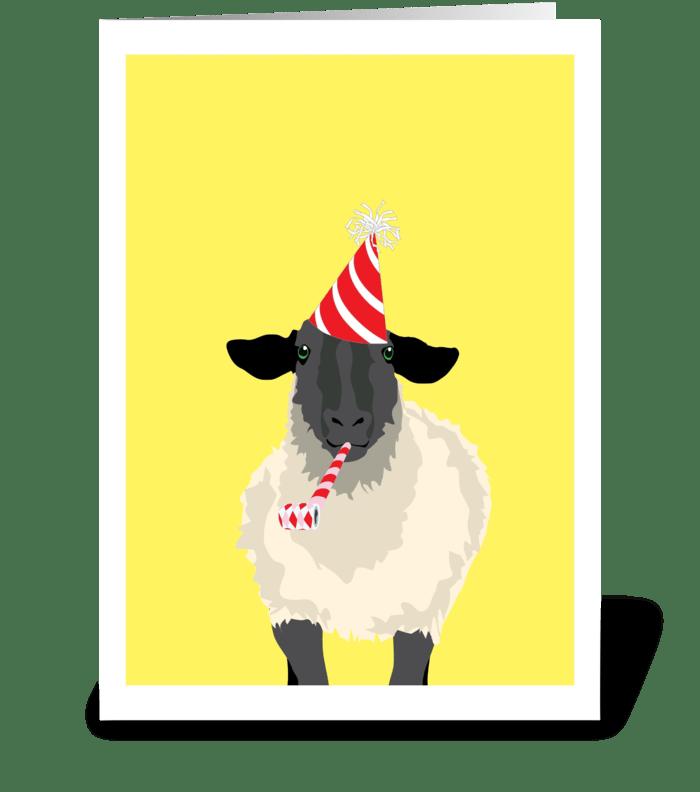 Birthday Sheep greeting card