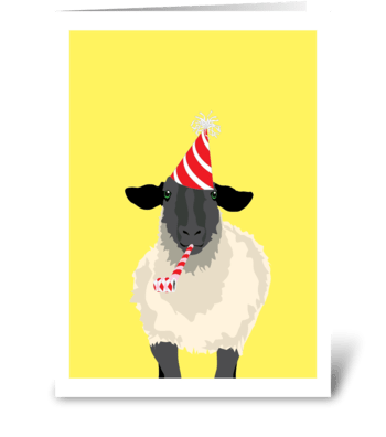 Birthday Sheep greeting card