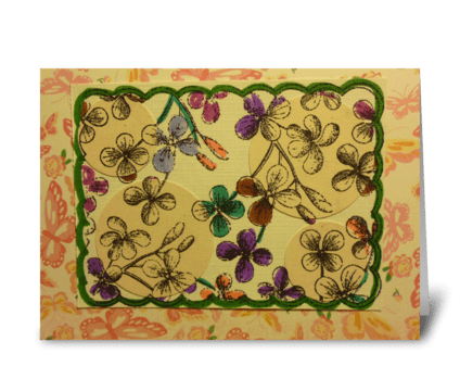 Spotlight Flowers greeting card