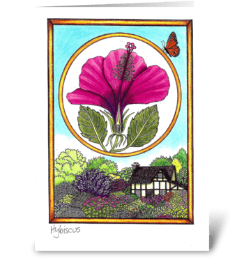 Hybiscus greeting card