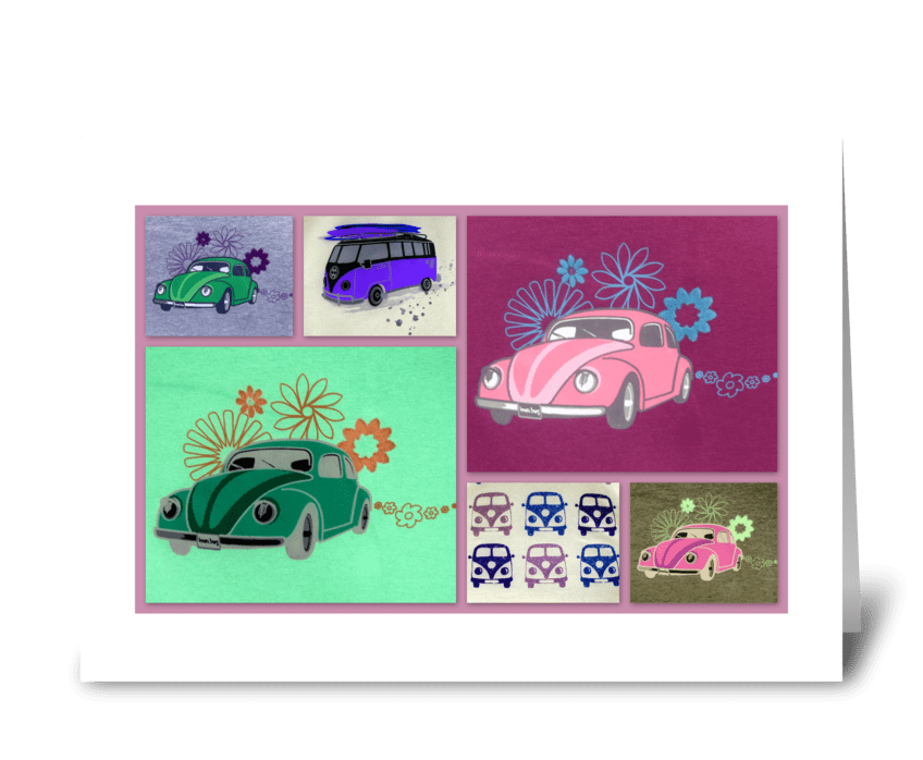 V Dub collection greeting card