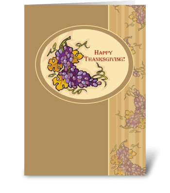 Thanksgiving Grapes Blessings greeting card