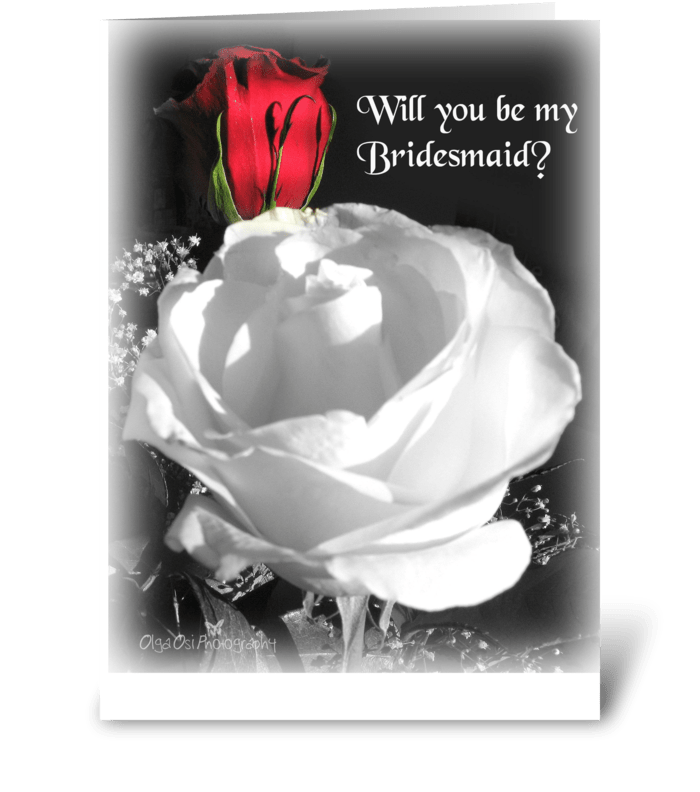 Will you be my Bridesmaid? greeting card