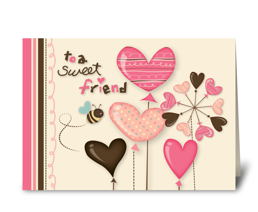 Sweet bee friendship send this greeting card designed by the jewel sweet bee friendship greeting card m4hsunfo