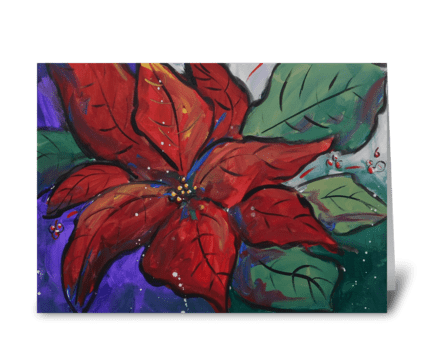 Poinsettia Pizazz greeting card