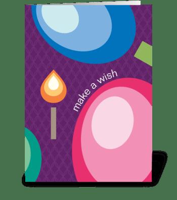 Make A Wish Candle greeting card