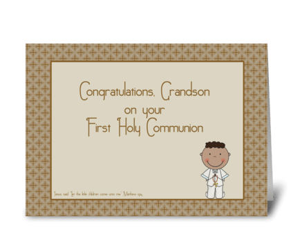 Holy Communion Congrats Grandson greeting card