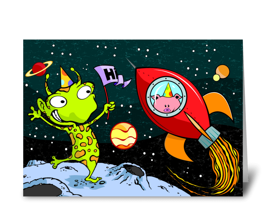 Space Birthday Send This Greeting Card Designed By Tim Read