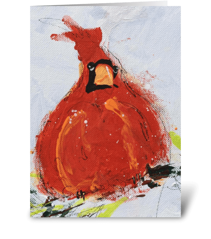 Cardinal Holiday greeting card