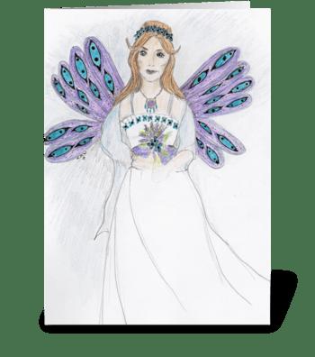 Fairy Bride greeting card