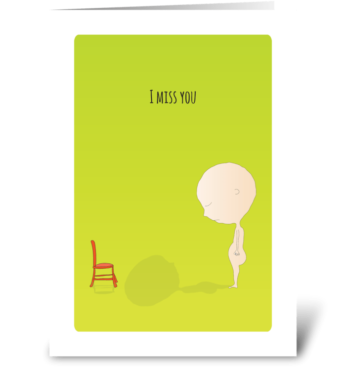 I miss you send this greeting card designed by that graphic place i miss you greeting card m4hsunfo